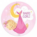 Jedlý papír k narození holčička
