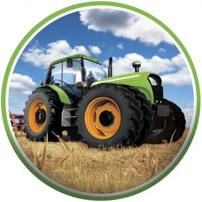 Jedlý papír traktor 2
