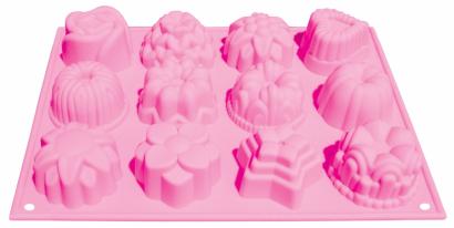 Silikonová forma  růžová bábovičky