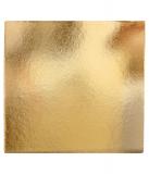 Podložka dortová zlatá čtverec  25x 25 cm