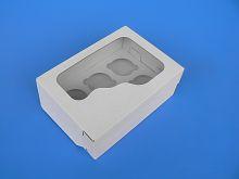 Krabička na muffiny bílá 6 ks