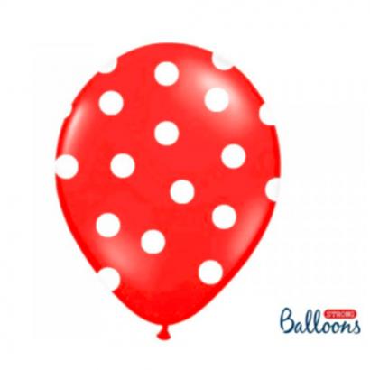 Balonek červený s puntíky