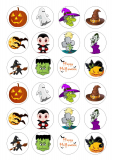 Halloween - jedlý papír  24 ks