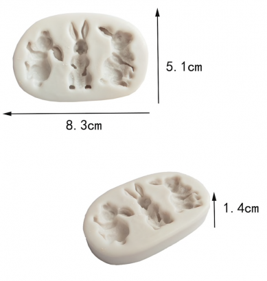 Silikonová forma králíčci