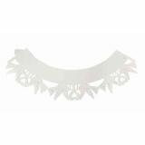Krajkový košíček bílý holubičky  12 ks