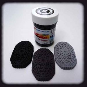 Gelová barva black - černá