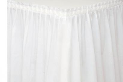 Plastový rautový ubrus  bílý  426 x 73 cm