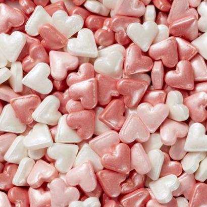 Cukrová dekorace srdíčka  56 g