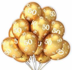 Balónek zlatý 50   7 ks