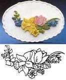 Patchwork girlanda jarní květy