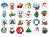 24 ks obrázků z jedlého papíru vánoce 3