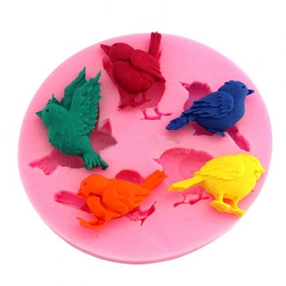 Silikonová forma ptáci