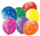Balónek  noty  7 ks