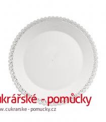 Podložka dortová bílá - plast  22 cm