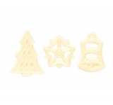 Vánoce - čokoládové filigránky bílé
