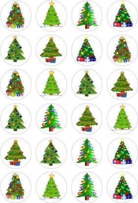 24 ks obrázků z jedlého papíru vánoce 6
