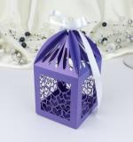 Krabička na makronky a drobné cukroví  fialová 1 ks