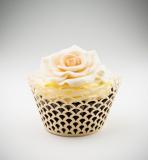 Košíčky na cupcakes  12 ks  zlaté - obloučky