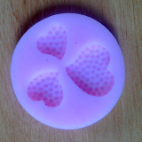 Silikonová formička  srdíčka puntík
