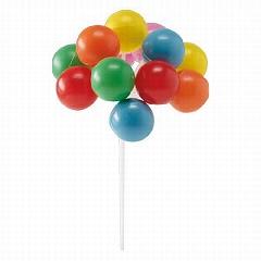 Balónky dekorace na dort