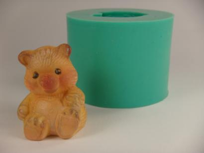 Silikonová forma sedící medvídek