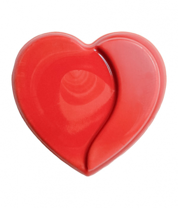 Čokoládové srdíčko červené 10 ks