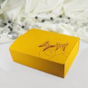 Krabička -  oranžová   motýl  10 ks