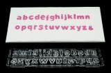 Vypichovač malých písmen block upper - pružinové