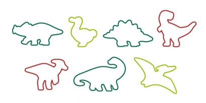 Sada vykrajovátek dinosauři 8 ks