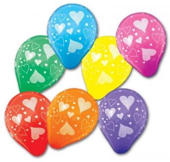 Barevné balonky barevná srdíčka