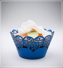 Košíčky na cupcakes  12 ks  modré 2