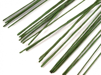Floristický drát  0,6 mm  zelený  10 ks