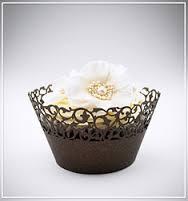 Košíčky na cupcakes  12 ks  hnědé