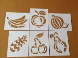 Stencila - šablona dekorů ovoce