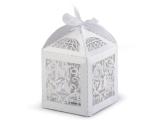 Krabička na drobné cukroví bílá perleť