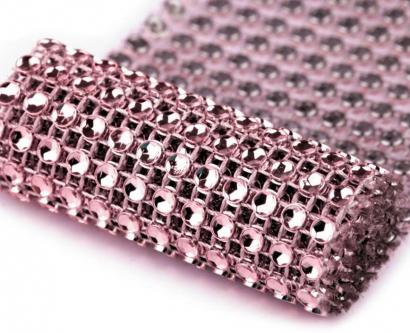 Diamantový pás 58 mm x 1 m růžový