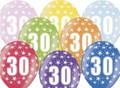 Balonek  33 cm číslo  30