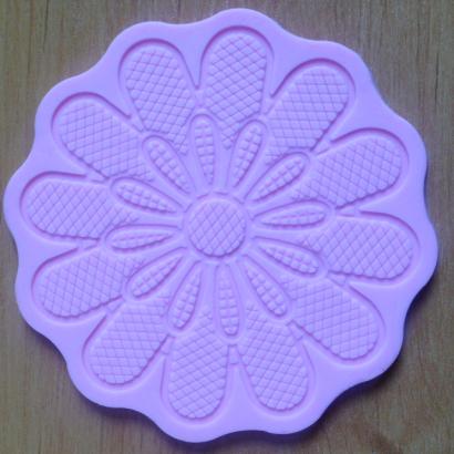 Silikonová formička  na  krajku květina