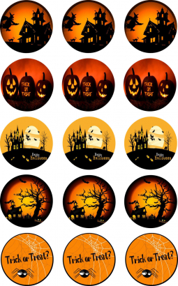 Halloween - jedlý papír  15 ks