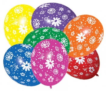 Barevné balonky kytičky
