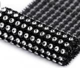 Diamantový pás 58 mm x 1 m černý