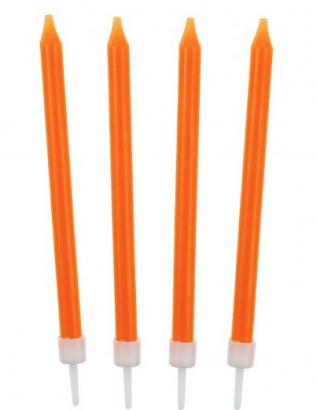 Dortové svíčky oranžové 10 ks
