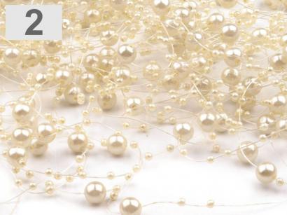 Perličky na silonu krémová perleť