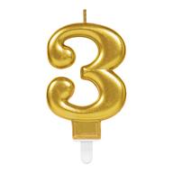 Svíčka  na dort zlatá   3