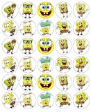30 ks obrázků z jedlého papíru sponge bob