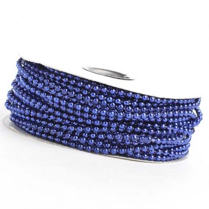 Perličky na niti tmavě modré 3 mm