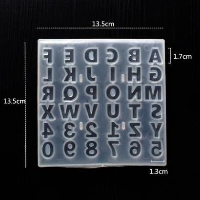 Silikonová forma abeceda a čísla