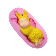 Silikonová formička miminko králíček