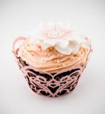 Košíčky na cupcakes  12 ks  růžové srdce
