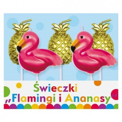 Dortové svíčky flamingo